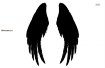 Gothic Wings Silhouette Drawing