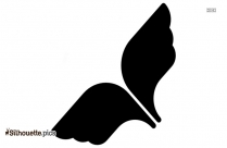 Fluffy Wing Of Game Silhouette