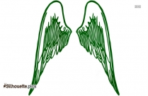 Simple Wings Silhouette Free Vector Art