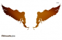 Beautiful Fairy Wings Symbol Silhouette