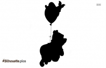 Winnie The Pooh And Christopher Robin Holding Hands Silhouette