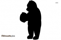 Cartoon Christopher Robin And Pooh Silhouette