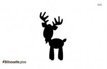 Black And White Mythical Fawn Silhouette