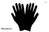 Boxing Glove Silhouette Clipart