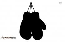 Black Christmas Gloves Silhouette Image