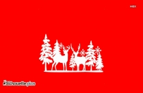 Reindeer And Sleigh Silhouette Clip Art