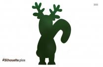 Winter Reindeer Silhouette Drawing