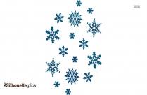 Winter Snowflake Borders Silhouette