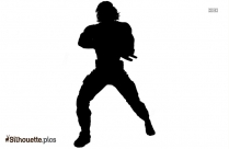 Winter Soldier Character Silhouette Background
