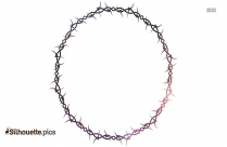 Wire Round Border Silhouette Clipart