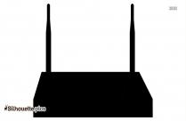 Wireless Router Silhouette Clip Art