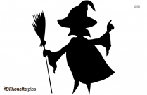 Witch Broom Halloween Silhouette Clipart
