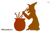 Cute Halloween Witch Clipart Silhouette