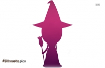 Halloween Witch Silhouette Image