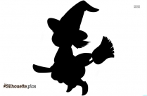 Cute Little Witch Silhouette