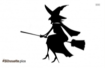 Old Witch Silhouette Vector