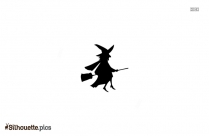 Witch Flying Silhouette Free Vector Art
