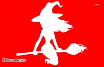 Witch Flying Silhouette Icon