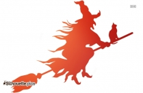 Witch Flying Silhouette Vector And Graphics