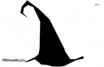 Black And White Brave Witch Silhouette