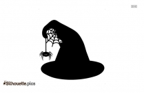 Witch Hat Black And White Silhouette