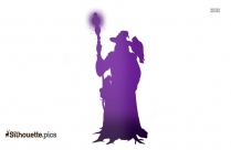Witch Man Silhouette