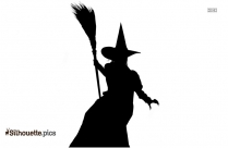 Witch Silhouette Vector Download