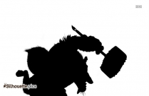 Ghost Demon Wolf Silhouette