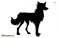 Wolf Cartoon Silhouette Image And Vector
