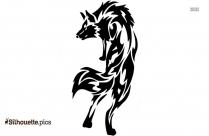 Wolf Dog Tattoo Sticker Silhouette