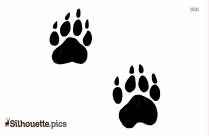 Paw Print Silhouette Vector