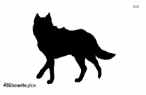 Wolf Silhouette Black And White