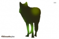 Free Wolf Howling Silhouette