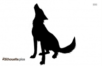 Howling Wolf Silhouette Image