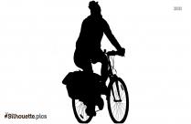 Woman Cycling Silhouette Clip Art