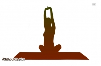Twisted One Legged Arm Balance Yoga Pose Forte Silhouette