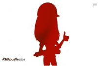 Woman Engineer Vector, Silhouette