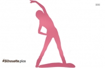 Gym Girl Silhouette Icon, Gymnastics Clipart
