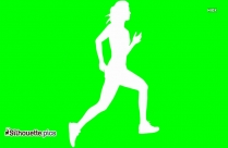 Woman Jogging Silhouette Image Free Download