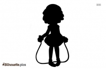 Woman Jumping Rope Silhouette