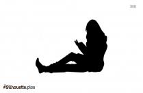 Girl Reading Books Clipart Silhouette