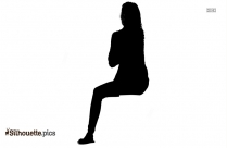 Sad Woman Sitting Silhouette