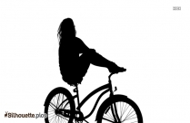 Black And White Adult Bicycle Silhouette