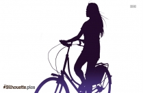 Woman With Cycle Silhouette Picture