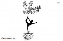 Women Tree Art Drawing Silhouette Background
