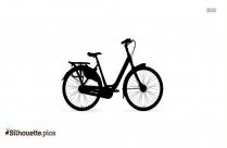 Womens Hybrid Bike Silhouette