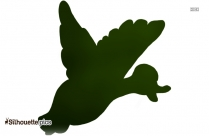 Wood Duck Flying Vector Silhouette