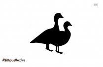 Wood Duck Silhouette Statue