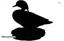 Duck Cartoons Silhouette Clipart