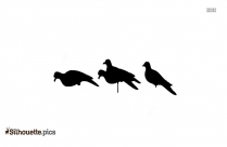 Wood Pigeon Silhouette Clipart